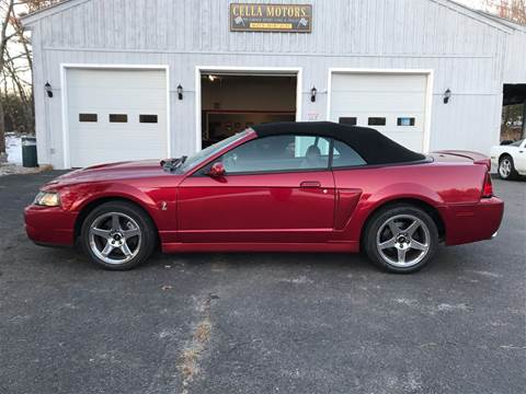 2004 Ford Mustang SVT Cobra for sale at Cella  Motors LLC in Auburn NH