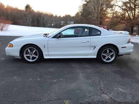 1995 Ford Mustang SVT Cobra for sale at Cella  Motors LLC in Auburn NH