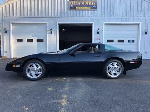 1990 Chevrolet Corvette for sale at Cella  Motors LLC in Auburn NH