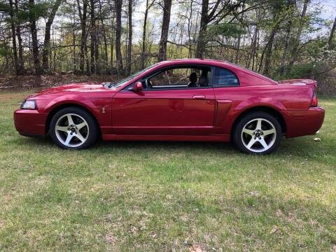 2003 Ford Mustang SVT Cobra for sale at Cella  Motors LLC in Auburn NH