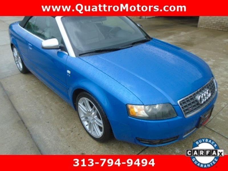 2005 Audi S4 car for sale in Detroit