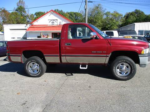 1996 Dodge Ram Pickup 1500 for sale at Hickory Wholesale Cars Inc in Newton NC