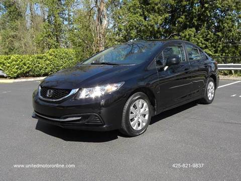2013 Honda Civic for sale in Kirkland, WA
