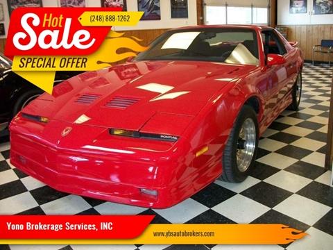 1987 Pontiac Firebird for sale in Farmington, MI