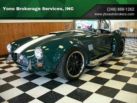 Cobra Kit Car >> 1965 Ac Cobra Roadster For Sale In Farmington Mi
