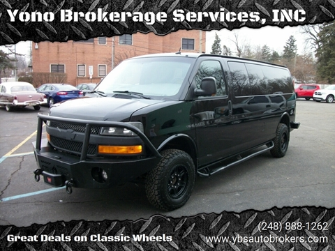 2012 Chevrolet Express Passenger LT 3500 for sale at Yono Brokerage Services, INC in Farmington MI