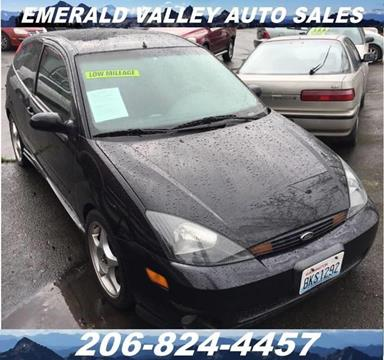 2002 Ford Focus SVT for sale in Des Moines, WA