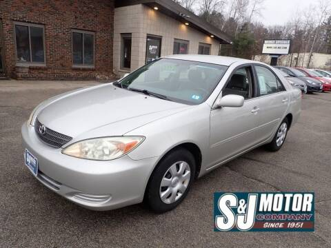 2004 Toyota Camry for sale at S & J Motor Co Inc. in Merrimack NH