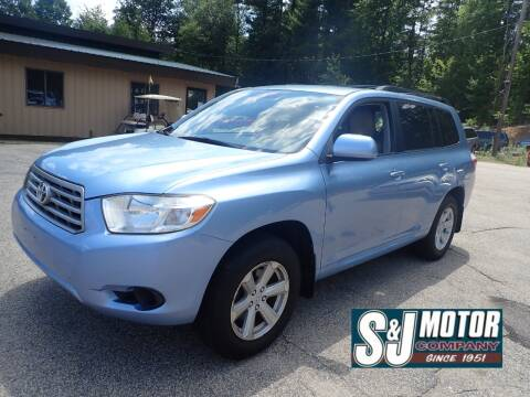 2008 Toyota Highlander for sale at S & J Motor Co Inc. in Merrimack NH