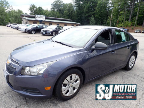 2013 Chevrolet Cruze for sale at S & J Motor Co Inc. in Merrimack NH