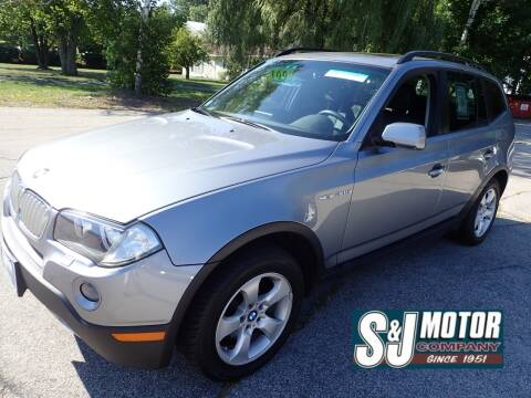 2008 BMW X3 for sale at S & J Motor Co Inc. in Merrimack NH