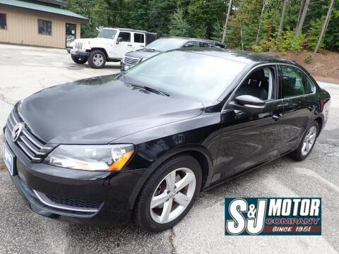 2013 Volkswagen Passat for sale at S & J Motor Co Inc. in Merrimack NH