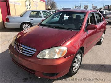2003 Toyota Corolla for sale at Best Choice Motors in Tulsa OK