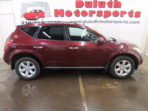 2007 Nissan Murano for sale at Duluth Motorsports INC in Duluth MN