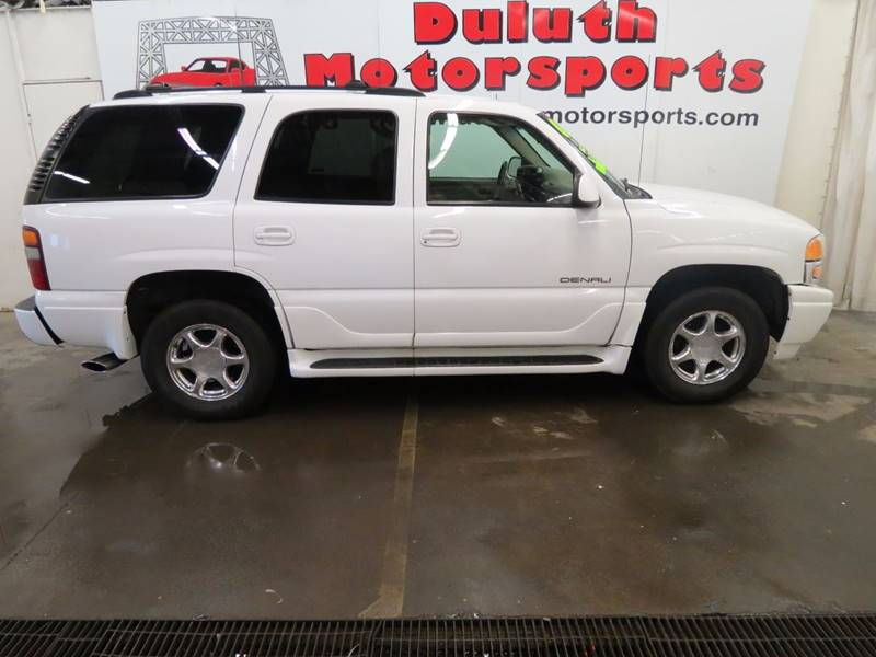 2002 GMC Yukon for sale at Duluth Motorsports INC in Duluth MN