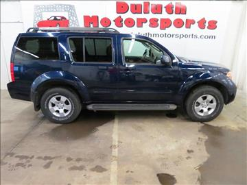 2007 Nissan Pathfinder for sale at Duluth Motorsports INC in Duluth MN