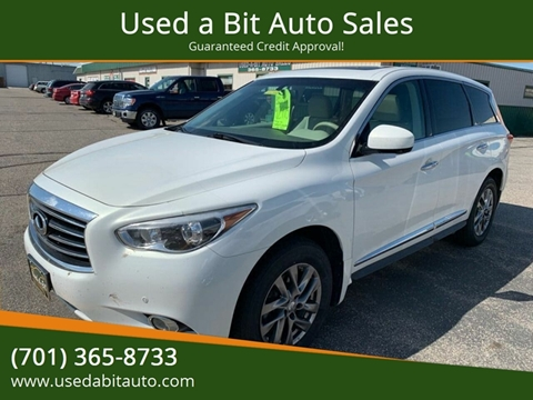 2013 Infiniti JX35 for sale at Used a Bit Auto Sales in Fargo ND