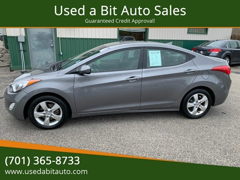 2012 Hyundai Elantra for sale at Used a Bit Auto Sales in Fargo ND