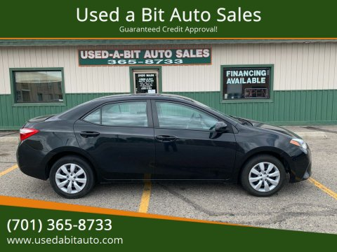 2014 Toyota Corolla for sale at Used a Bit Auto Sales in Fargo ND