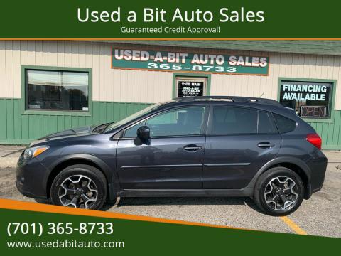 2013 Subaru XV Crosstrek for sale at Used a Bit Auto Sales in Fargo ND