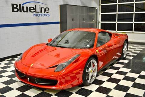2012 Ferrari 458 Italia for sale at Blue Line Motors in Winchester VA