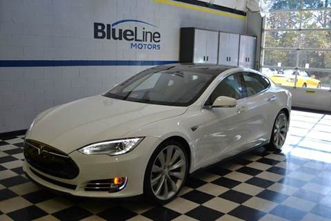 2013 Tesla Model S for sale at Blue Line Motors in Winchester VA