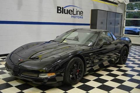 2002 Chevrolet Corvette for sale at Blue Line Motors in Winchester VA