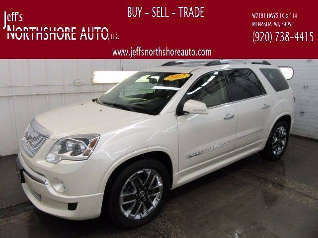 2012 GMC Acadia for sale at Jeffs Northshore Auto LLC in Menasha WI