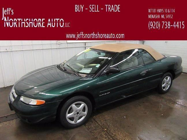 1996 Chrysler Sebring for sale at Jeffs Northshore Auto LLC in Menasha WI