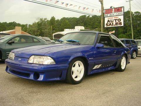 1990 Ford Mustang for sale at Deer Park Auto Sales Corp in Newport News VA