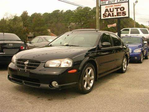 2001 Nissan Maxima for sale at Deer Park Auto Sales Corp in Newport News VA