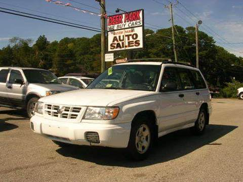1999 Subaru Forester for sale at Deer Park Auto Sales Corp in Newport News VA