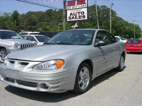 2003 Pontiac Grand Am for sale at Deer Park Auto Sales Corp in Newport News VA