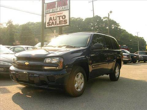 2002 Chevrolet TrailBlazer for sale at Deer Park Auto Sales Corp in Newport News VA