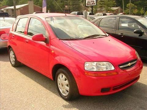 2004 Chevrolet Aveo for sale at Deer Park Auto Sales Corp in Newport News VA
