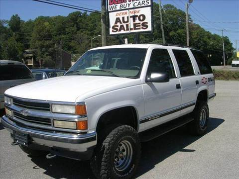 1999 Chevrolet Tahoe for sale at Deer Park Auto Sales Corp in Newport News VA