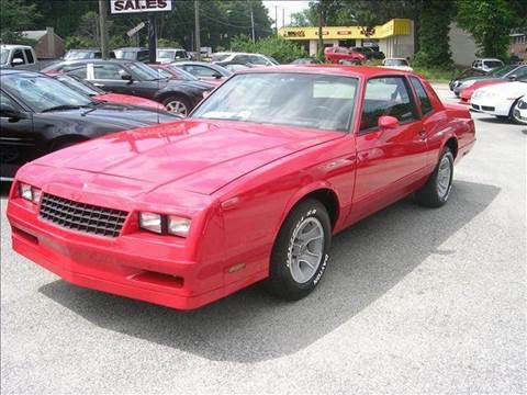 1985 Chevrolet Monte Carlo for sale at Deer Park Auto Sales Corp in Newport News VA