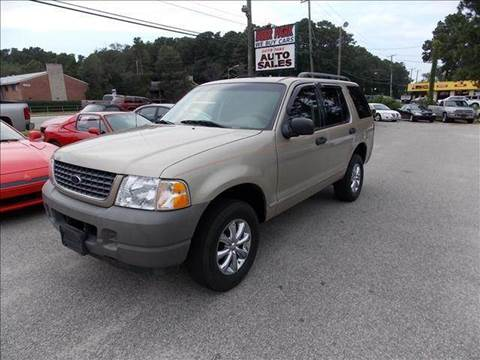 2002 Ford Explorer for sale at Deer Park Auto Sales Corp in Newport News VA
