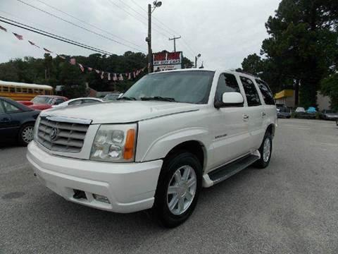 2003 Cadillac Escalade for sale at Deer Park Auto Sales Corp in Newport News VA