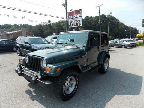 2002 Jeep Wrangler for sale at Deer Park Auto Sales Corp in Newport News VA