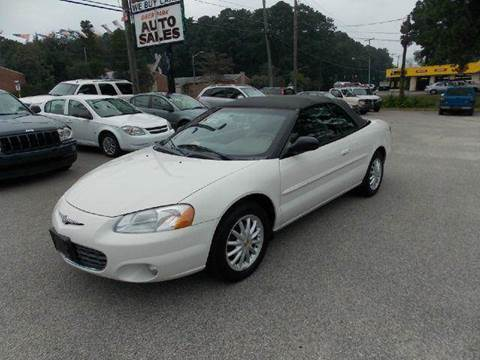 2003 Chrysler Sebring for sale at Deer Park Auto Sales Corp in Newport News VA