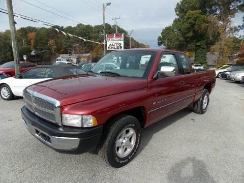 1996 Dodge Ram Pickup 1500 for sale at Deer Park Auto Sales Corp in Newport News VA