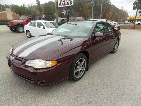 2004 Chevrolet Monte Carlo for sale at Deer Park Auto Sales Corp in Newport News VA