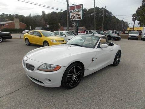 2003 BMW Z4 for sale at Deer Park Auto Sales Corp in Newport News VA