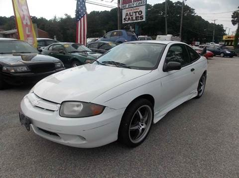 2003 Chevrolet Cavalier for sale at Deer Park Auto Sales Corp in Newport News VA