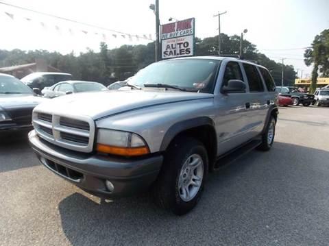 2002 Dodge Durango for sale at Deer Park Auto Sales Corp in Newport News VA
