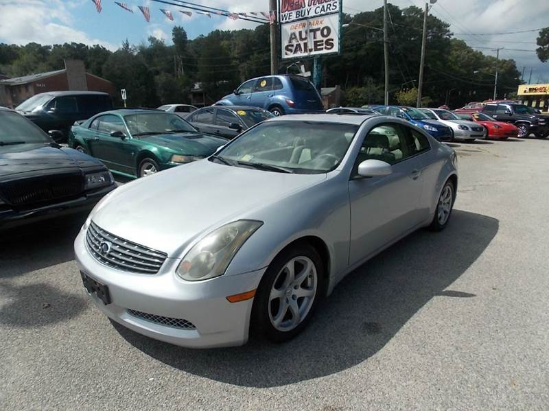 2004 Infiniti G35 for sale at Deer Park Auto Sales Corp in Newport News VA
