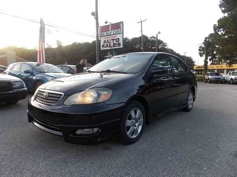 2006 Toyota Corolla for sale at Deer Park Auto Sales Corp in Newport News VA
