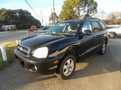 2005 Hyundai Santa Fe for sale at Deer Park Auto Sales Corp in Newport News VA
