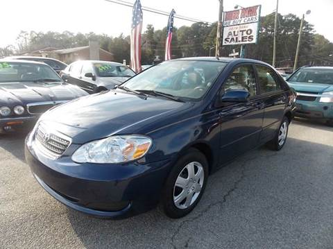 2007 Toyota Corolla for sale at Deer Park Auto Sales Corp in Newport News VA